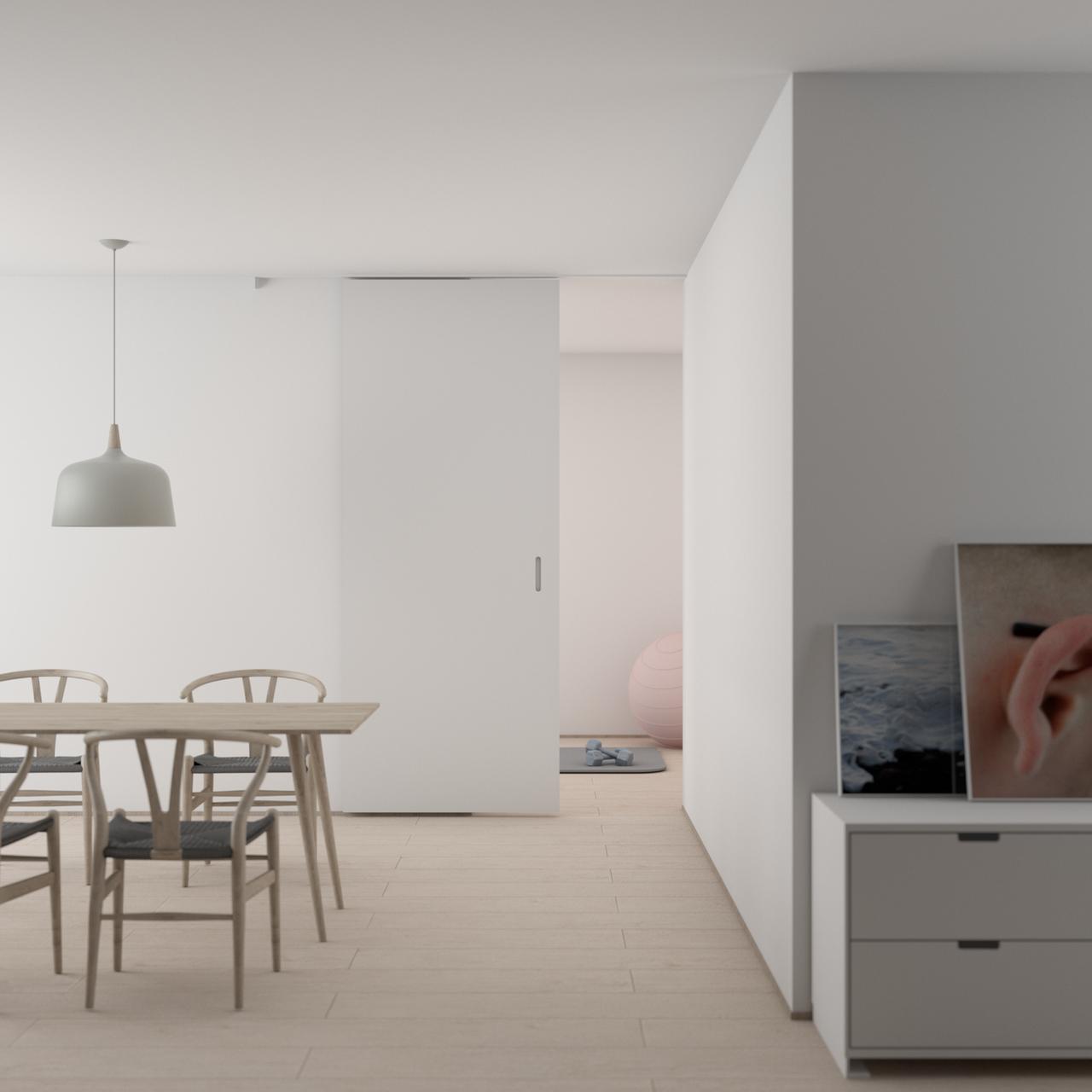 Warna Putih yang Dominan pada Rumah bergaya Skandinavia