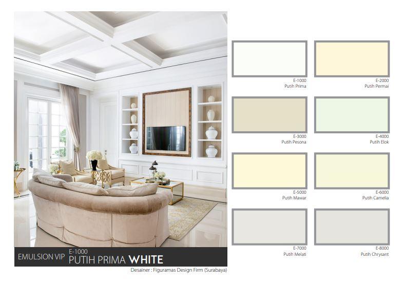 Sentuhan Cat Rumah Putih Dengan Mowilex Emulsion Vip Colorshop