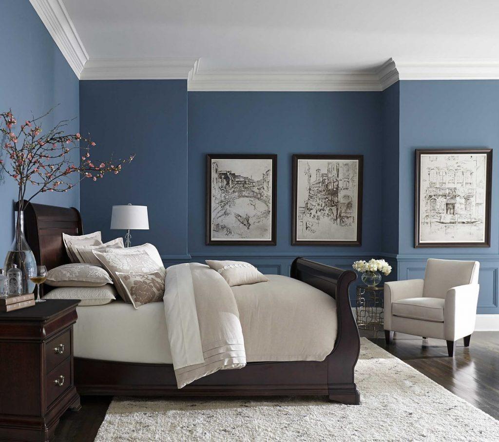 Warna biru untuk kamar tidur