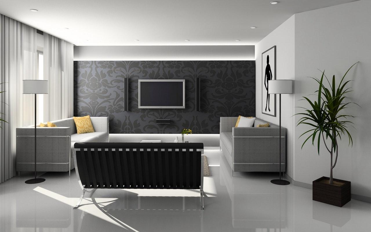 Warna hitam rumah minimalis